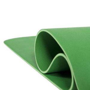 one love - by melanie unara salomon - Yogamatte Naturkautschuk grün Detail